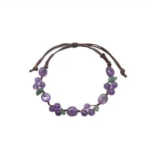 Purple, amethyst, bracelet