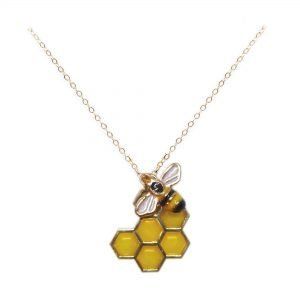 cold bee necklace